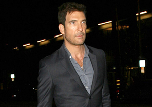 Dapper Dylan McDermott stopped by Madeo restaurant in L.A. for dinner.