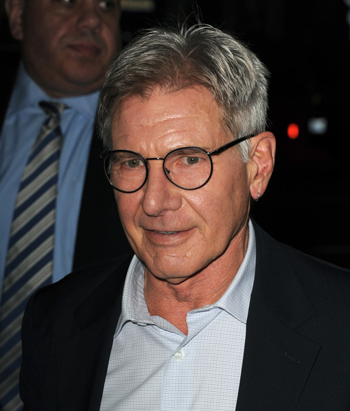 Harrison Ford Walking Solo with Crutch