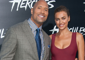 "Dwayne Johnson and Irina Shayk attended the ""Hercules"" premiere in Hollywood."