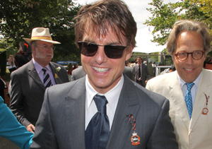 Tom Cruise attended the horse races at Glorious Goodwood Ladies' Day in…
