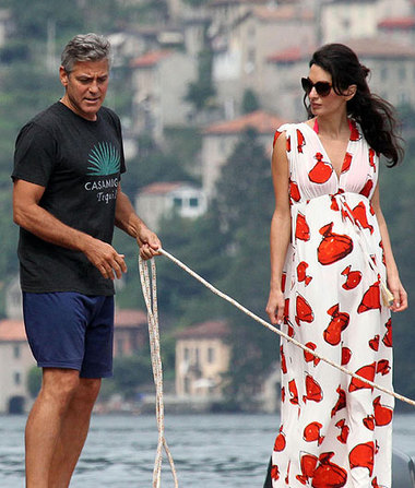 Pics! George Clooney and Amal Alamuddin's Lake Como Excursion