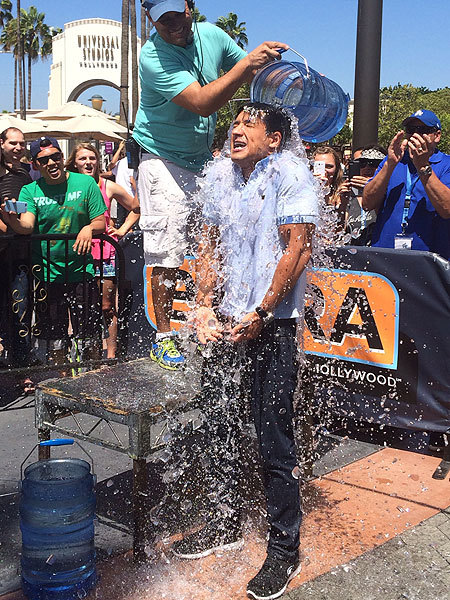 Mario Lopez Accepts the ALS Ice Bucket Challenge… and Guess Who He Nominated?