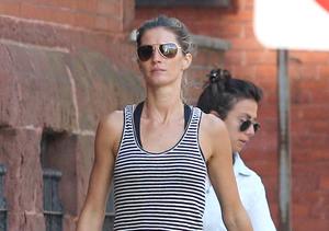 Model Gisele Bündchen took a stroll in Boston.