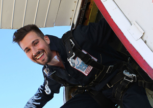 """BTR"" star James Maslow went skydiving in Santa Barbara to help raise money for…"