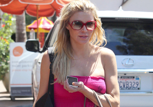 Brandi Glanville stopped by a car wash in L.A.