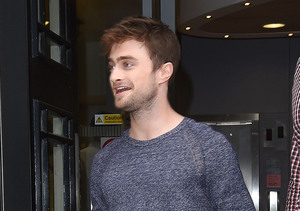 """Horns"" star Daniel Radcliffe was spotted at BBC Radio 2 Studios in London."