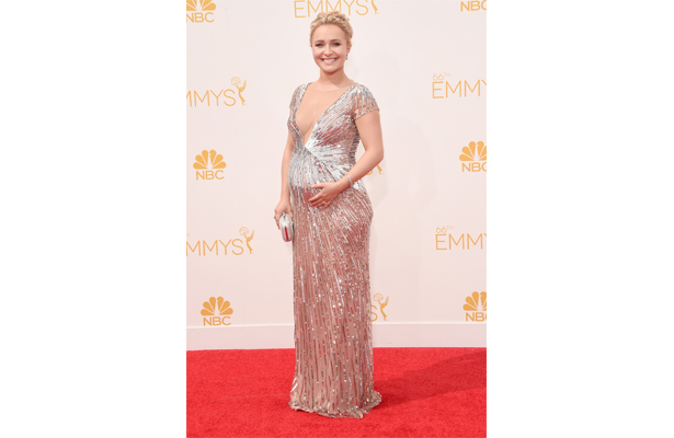 Hayden Panettiere Accidentally Reveals Baby's Gender on Emmys Red Carpet!