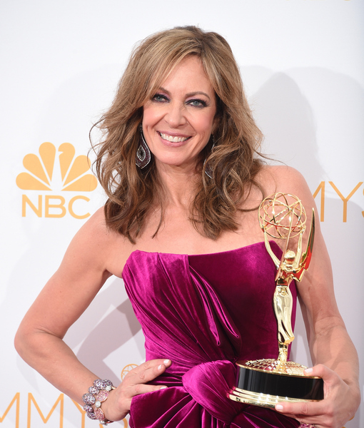 Allison Janney Celebrates Emmys Win… by Making Out with Our Jerry Penacoli!