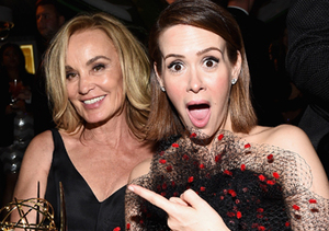 """American Horror Story"" stars Jessica Lange and Sarah Paulson celebrating after…"