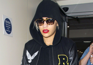 Rita Ora touched down at Heathrow Airport on Tuesday.