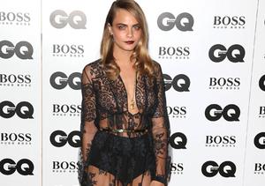 Wild Night! Cara Delevingne Wrestles Fashion Designer at GQ Awards