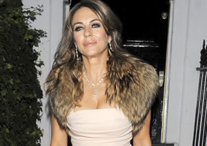 """The Royals"" star Elizabeth Hurley looked glam in London."