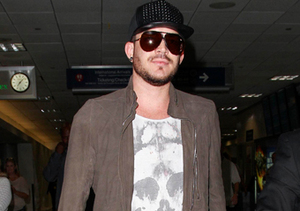 Adam Lambert hopped a flight from NYC to L.A.