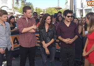'Extra' Hangs Out with 'The Maze Runner' Cast at Universal Studios Hollywood