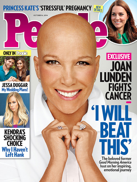 Shock Cover: Joan Lunden Battling Breast Cancer, Poses Bald for People Mag