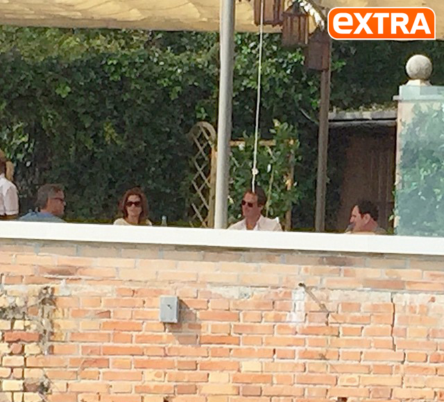 'Extra' Pic! George Clooney Spotted on His Wedding Day
