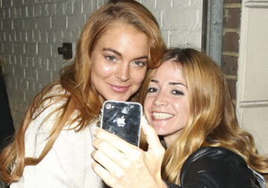 Lindsay Lohan snapped a selfie with a fan after her performance of…