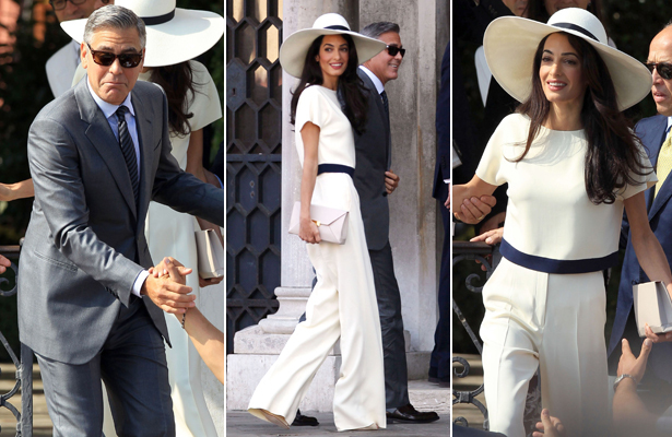 Pics! George Clooney and Amal Alamuddin Wed in Civil Ceremony