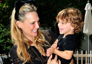 Molly Sims and son Brooks attended Pottery Barn Kids Halloween party at the…
