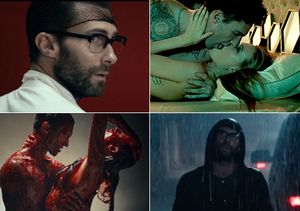 Adam Levine and Wife Get Naked and Bloody in Creepy New 'Animals'…
