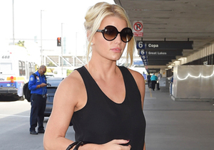 A slimmed-down Jessica Simpson caught a flight at LAX.