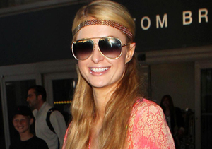 Paris Hilton brought back the 1960s look at LAX.