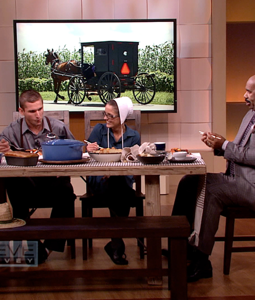 Watch! The 'Breaking Amish' Cast Tries Sushi for the First Time on 'Steve…
