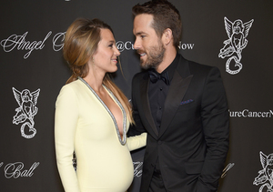 See Blake Lively's Stunning, Skintight Maternity Gown with Plunging…