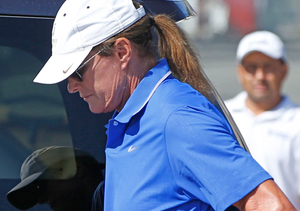 Bruce Jenner Steps Out with Pink Nails
