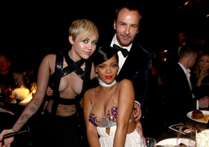 Miley Cyrus vs. Rihanna: See Their Shocking Skin Show at amfAR Dinner