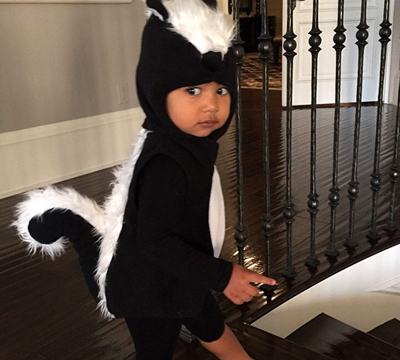 North West Is So Stinkin' Cute in Her Skunk Halloween Costume