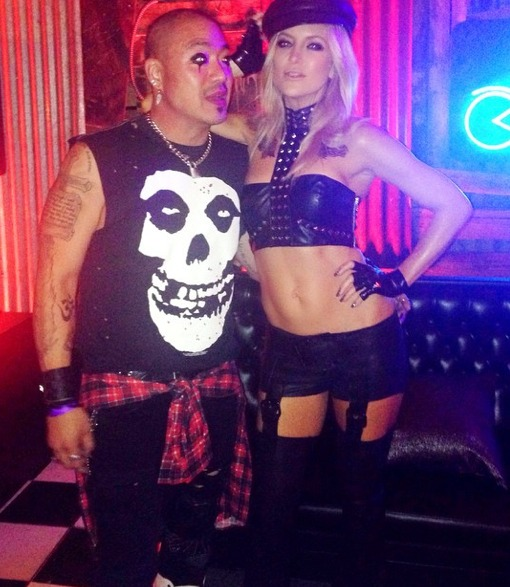Holly-ween Pics! Kate Hudson's Sexy Leather Biker Costume and More