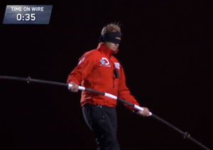 Video! Nik Wallenda's Blindfolded Tightrope Walk Between Chicago Skyscrapers