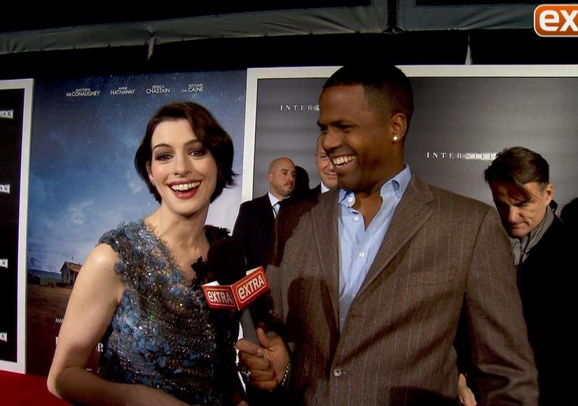 Anne Hathaway, Matthew McConaughey, and Jessica Chastain at 'Interstellar' NY…
