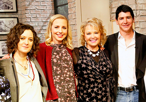 roseanne barr goes blonde reunites with sitcom kids on the