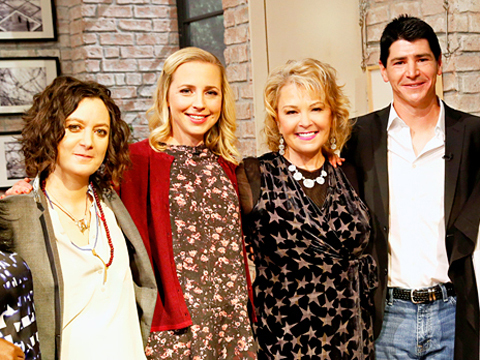 Roseanne Barr Goes Blonde, Reunites with Sitcom Kids on 'The Talk'
