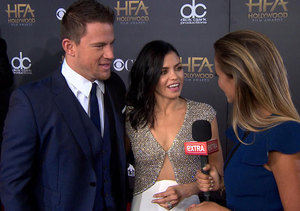 'Extra' at the Hollywood Film Awards with Channing Tatum, Julianne Moore, and…