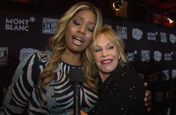 Melanie Griffith and Laverne Cox's Love Fest at the 24 Hour Plays on Broadway