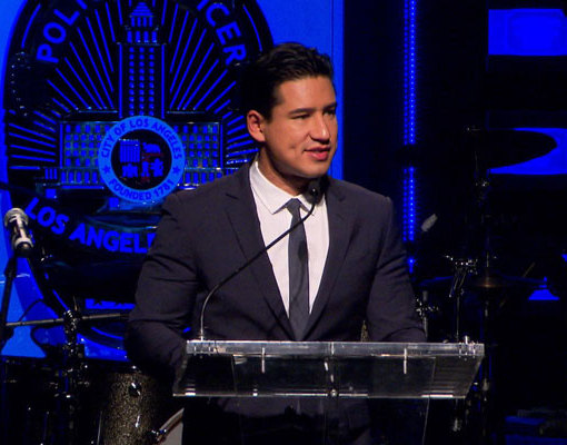 Mario Lopez Helps Give Back to the LAPD's Eagle and Badge Foundation