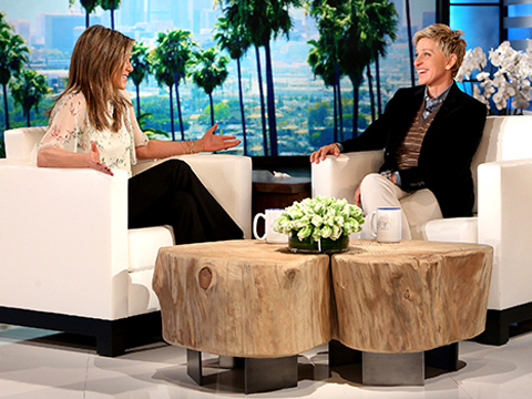 Jennifer Aniston Talks Wedding Dates with Ellen DeGeneres