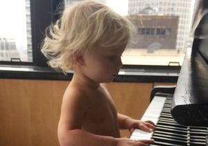 Jessica Simpson Posts Super Cute Pic of Son Ace Playing the Piano