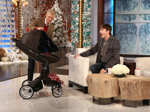 Ashton Kutcher Gets Emotional Talking About Mila and Daughter Wyatt on 'Ellen'
