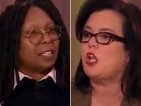 Video: Rosie O'Donnell and Whoopi Goldberg's Screaming Match Over Racism