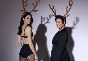 Hot! Kendall and Kris Jenner Strip Down for Sexy Christmas Leg Show