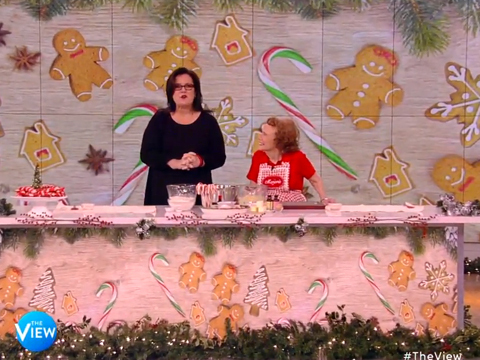 Holiday Fun! Rosie O'Donnell Bakes Candy Cane Cookies with Marjorie Johnson