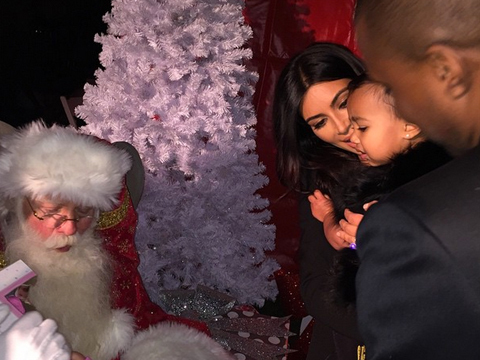 Kim K Shares North West's Not-So-Happy Pic with Santa
