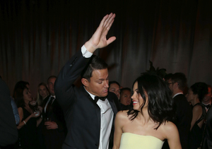 Channing Tatum & Jenna Dewan Show Off Their Dance Moves at Globes After…