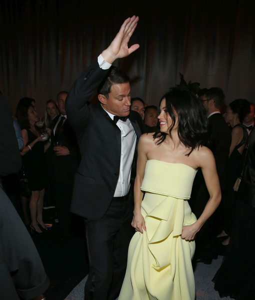 Channing Tatum & Jenna Dewan Show Off Their Dance Moves at Globes After Party