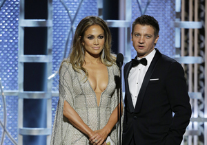 Jeremy Renner Defends His Joke About Jennifer Lopez's, Er, 'Golden Globes'
