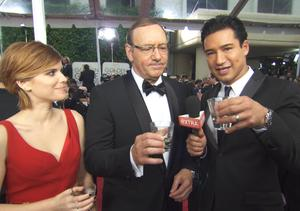 'Extra' and the Stars Take Tequila Shots on the Golden Globes Red Carpet